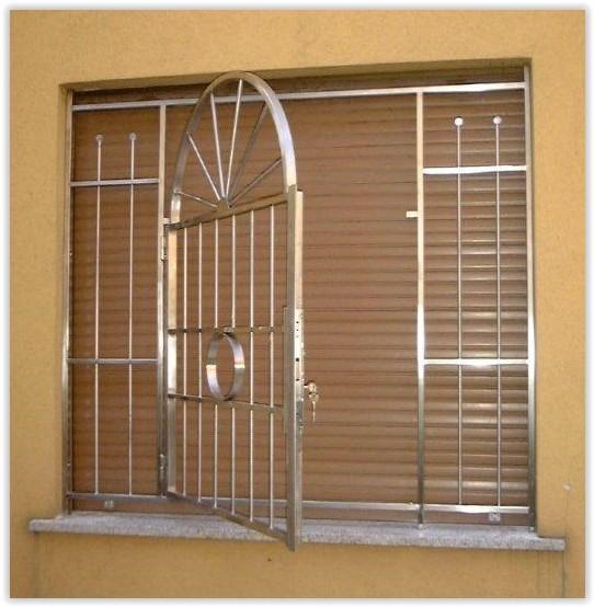 Inferriate grate di sicurezza per finestre in acciaio inox - Protezioni in ferro per finestre ...